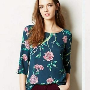 Anthropologie HD Pairs Floral Print Blouse